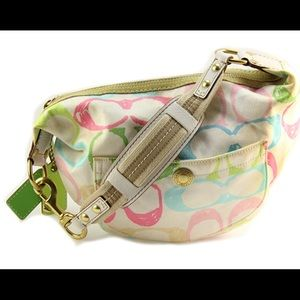 Coach Hampton Signature Hobo Multicolor Hobo